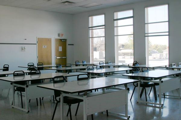 Art Classroom tables and chairs