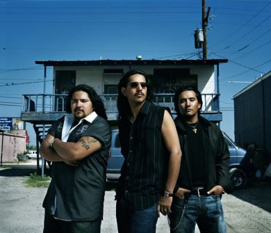 Three men from the band Los Lonely Boys