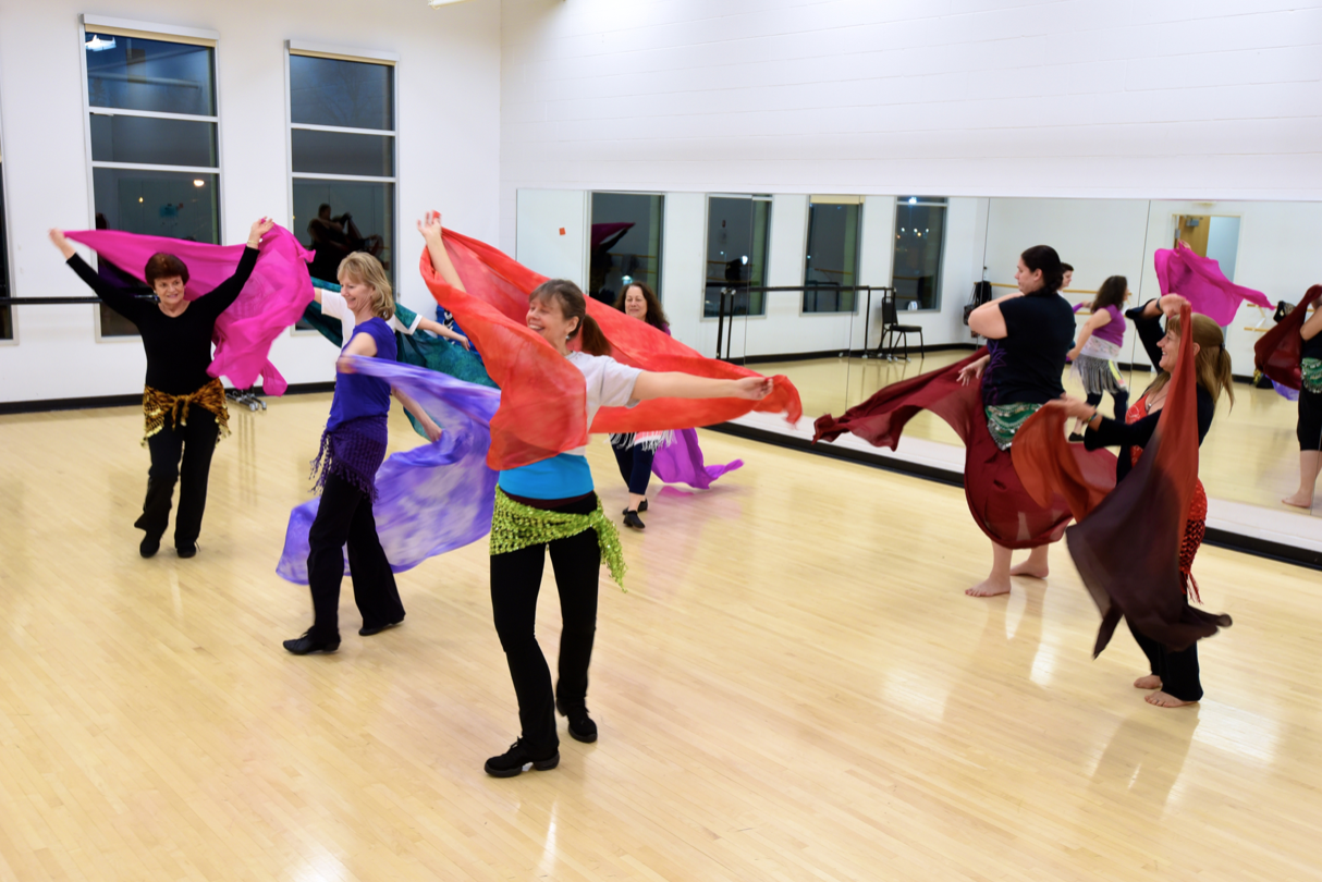 Dance Studio during belly dance class