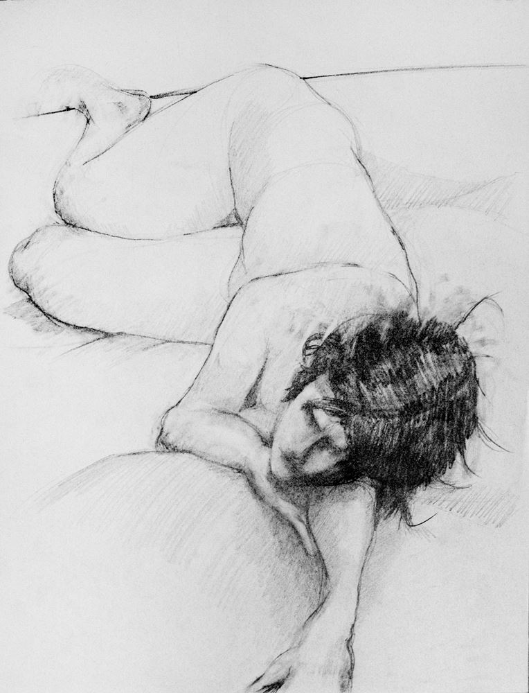 Figure Drawing by John Caron