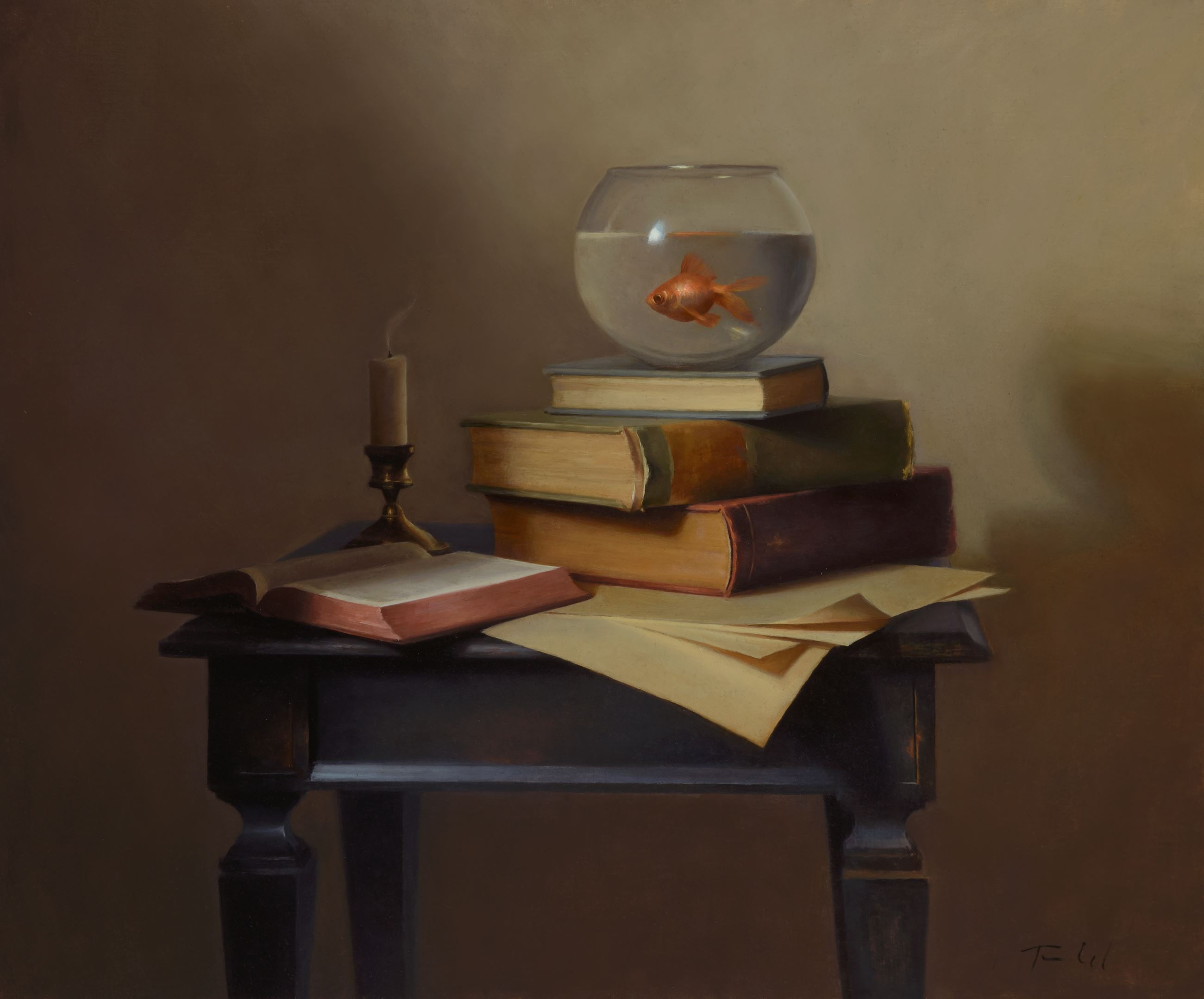 ATELIER Laura Tunde.The Scholar oil