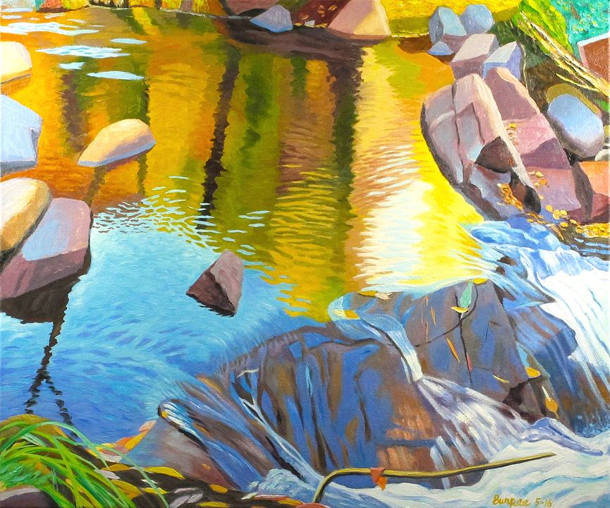 J Burpee Creek Splendor Painting